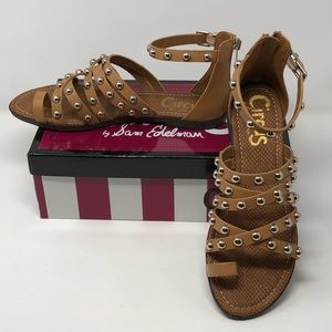 Sam Edelman Carla Natural Tan strappy sandal 9.5